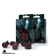 Runic Black-Red Polyhedral Dice Set