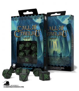 Call of Cthulu Black-Green Polyhedral Dice Set