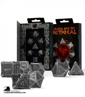Mythical Metal-Black Polyhedral Dice Set