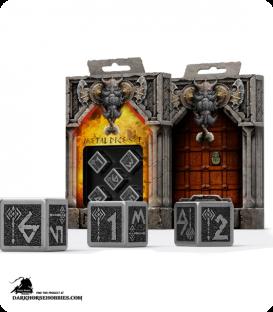 Dwarven Metal-Black D6 Dice Set