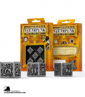 Steampunk Metal-Black D6 Dice Set