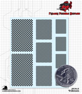 Checkers Decal Sheet - Black & Clear