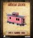 American Legends: 19th C. American Caboose (Red)