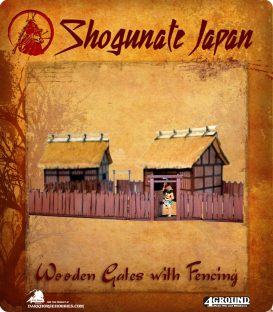 Shogunate Japan: Village Wooden Gates (with fencing)