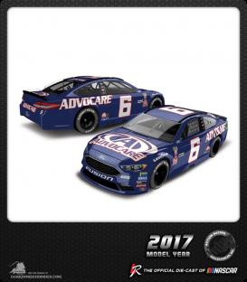 1/64 Nascar Diecast: Trevor Bayne - 2017 Advocare Ford Fusion (Darlington)