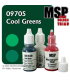 Master Series Paints: Cool Greens Triad