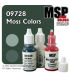 Master Series Paints: Moss Colors Triad