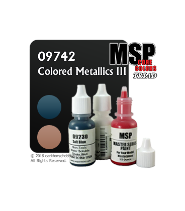 Master Series Paints: Colored Metallics Three Triad