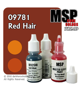 Master Series Paints: Red Hair Triad