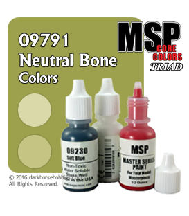 Master Series Paints: Neutral Bone Colors Triad