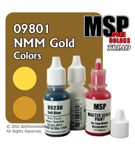 Master Series Paints: NMM Gold Colors Triad