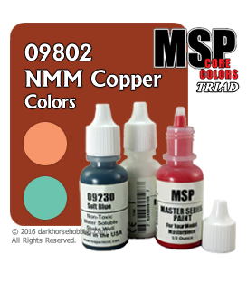 Master Series Paints: NMM Copper Colors Triad