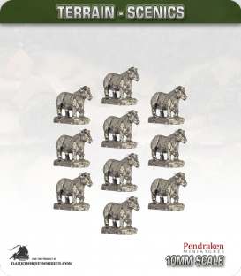 Tabletop Scenics (10mm): Cows Animal Pack
