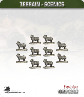 Tabletop Scenics (10mm): Sheep Animal Pack