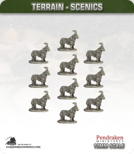 Tabletop Scenics (10mm): Goats Pack