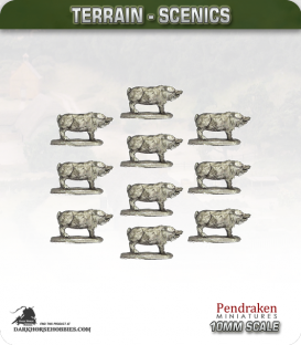 Tabletop Scenics (10mm): Pigs Pack