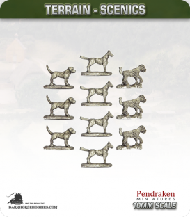 Tabletop Scenics (10mm): Dogs Pack