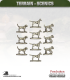 Terrain Scenics (10mm): Dogs Pack