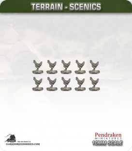 Tabletop Scenics (10mm): Chickens Pack