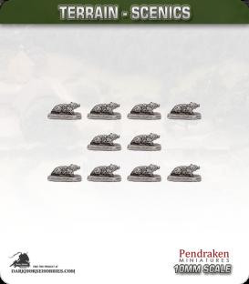 Terrain Scenics (10mm): Badgers Pack