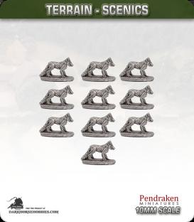 Terrain Scenics (10mm): Foxes Pack