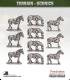 Terrain Scenics (10mm): Saddled Horses Pack