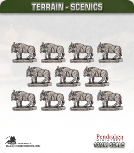 Terrain Scenics (10mm): Wildebeast Pack