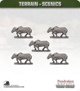 Terrain Scenics (10mm): Water Buffalo Pack