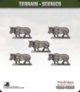 Terrain Scenics (10mm): Oxen Pack