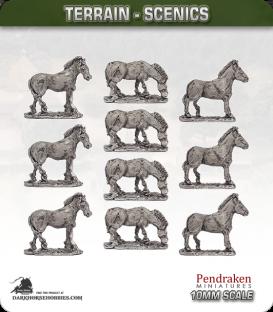 Terrain Scenics (10mm): Zebras Pack
