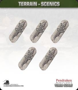Terrain Scenics (10mm): Crocodiles Pack