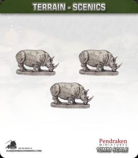 Terrain Scenics (10mm): Rhinos Pack