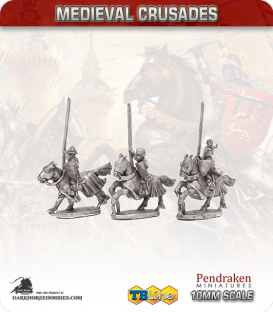10mm Medieval Crusaders: Teutonic Mounted Command Pack