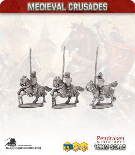 10mm Medieval Crusaders: European Heavy Knights Pack