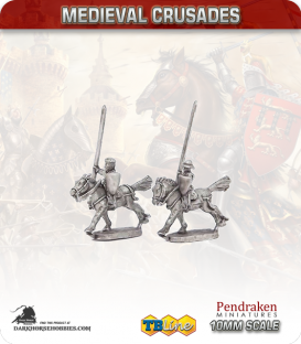10mm Medieval Crusaders: Light Cavalry with Lances Pack