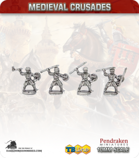 10mm Medieval Crusades: Light European Infantry Pack