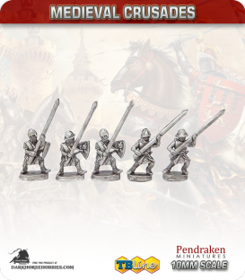 10mm Medieval Crusades: Heavy European Infantry Pack
