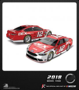 1/64 Nascar Diecast: Ryan Blaney - 2018 DEX Imaging Ford Fusion