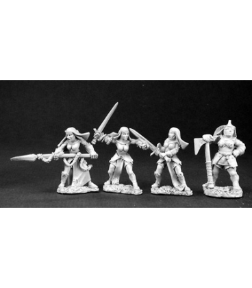 Warlord: Crusaders Battle Nuns and Mother Superior (unpainted)