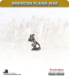 10mm Plains War: Indian Brave on Foot with Club