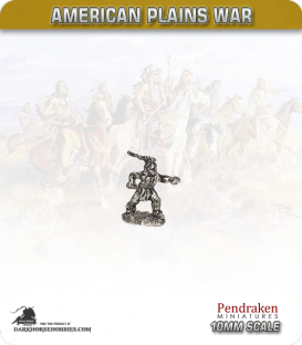 10mm Plains War: Indian Brave on Foot with Knife