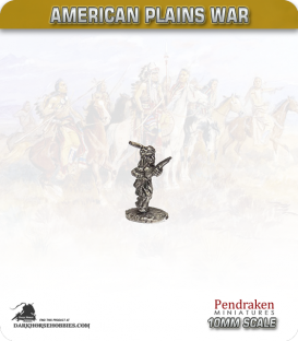 10mm Plains War: Indian Brave on Foot with Rifle