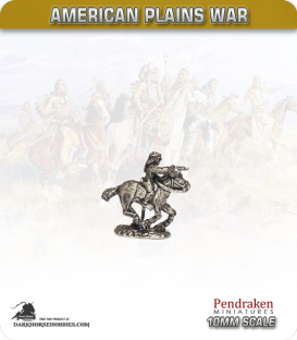 10mm Plains War: Indian Brave Mounted Firing Pistol