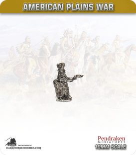 10mm Plains War: Indian Chieftain Standing