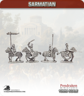 10mm Early Imperial: (Sarmatian) Cataphracts with Lance - armoured