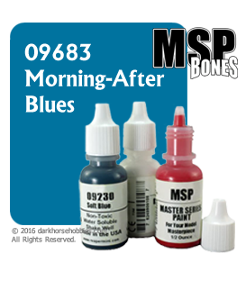 Master Series Paint: Bones Colors - 09683 Morning-After Blues (1/2 oz)