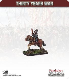 10mm Thirty Years War: Cavalry with Pistol/Burgonet