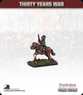 10mm Thirty Years War: Cavalry with Pistol/Burgonet