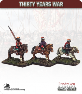 10mm Thirty Years War: Mounted Croatian Arquebusiers