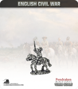 10mm English Civil War: Mounted Officers in Hat